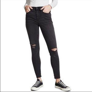 "Madewell 9"" Black Sea High-Rise Skinny Jeans 28"